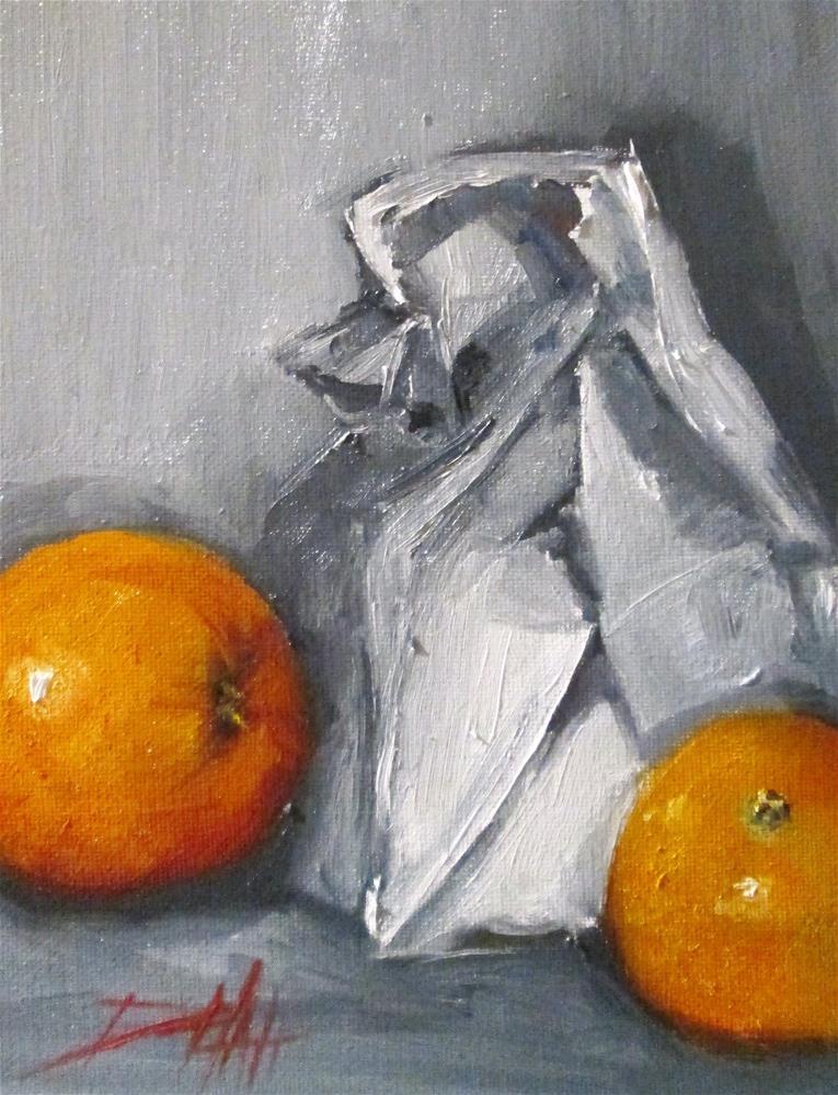 """Bag Lunch"" original fine art by Delilah Smith"