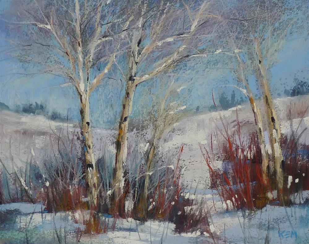 """Hold Back on the White when Painting Snow!"" original fine art by Karen Margulis"