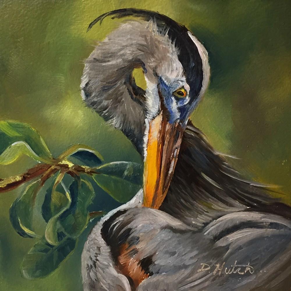 """Great Blue Heron"" original fine art by Diane Hutchinson"