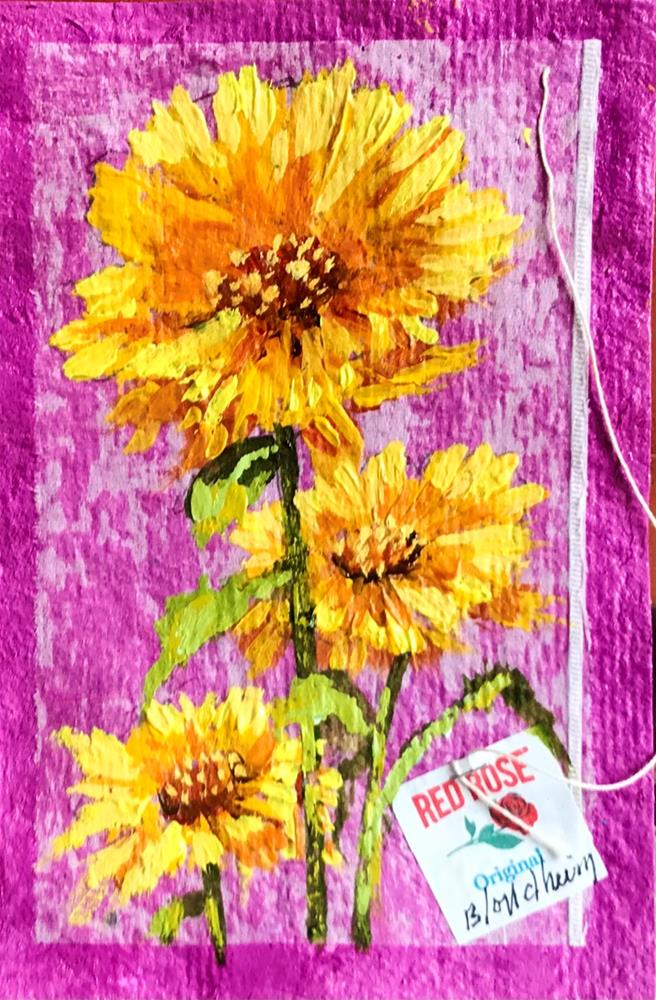 """Yard Flowers"" original fine art by Linda Blondheim"