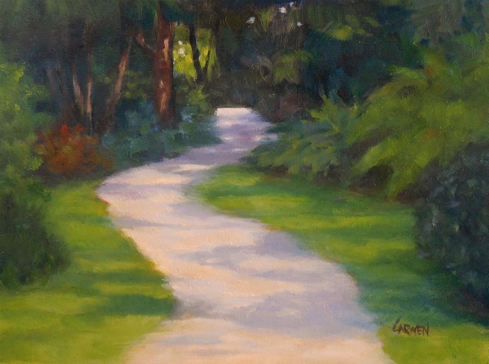 """Rock City Gardens, 8x6 Oil on Canvas Panel, Landscape Art"" original fine art by Carmen Beecher"