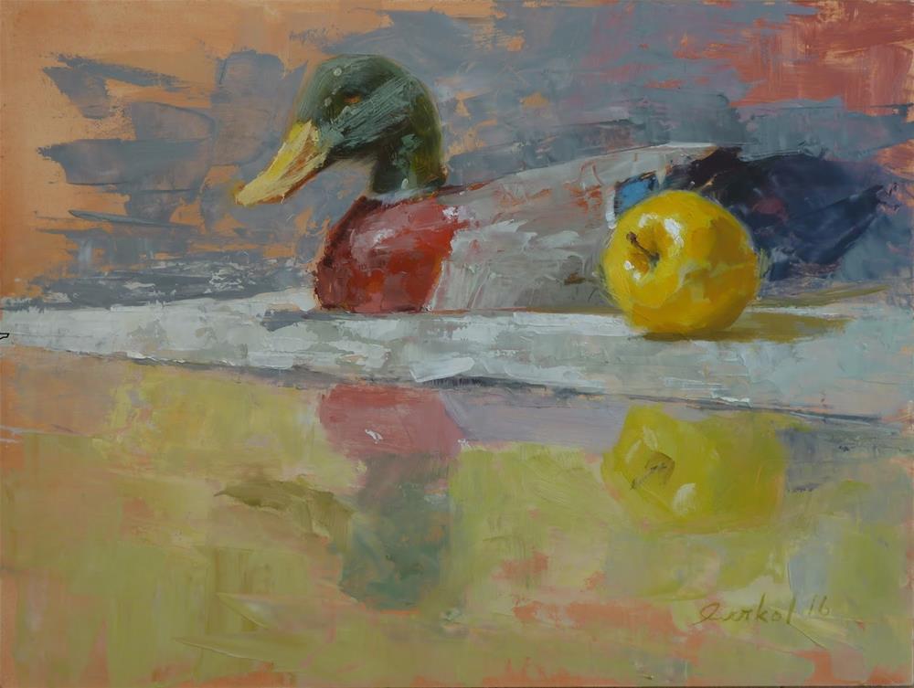 """""""Decoy"""" original fine art by Ron Ferkol"""