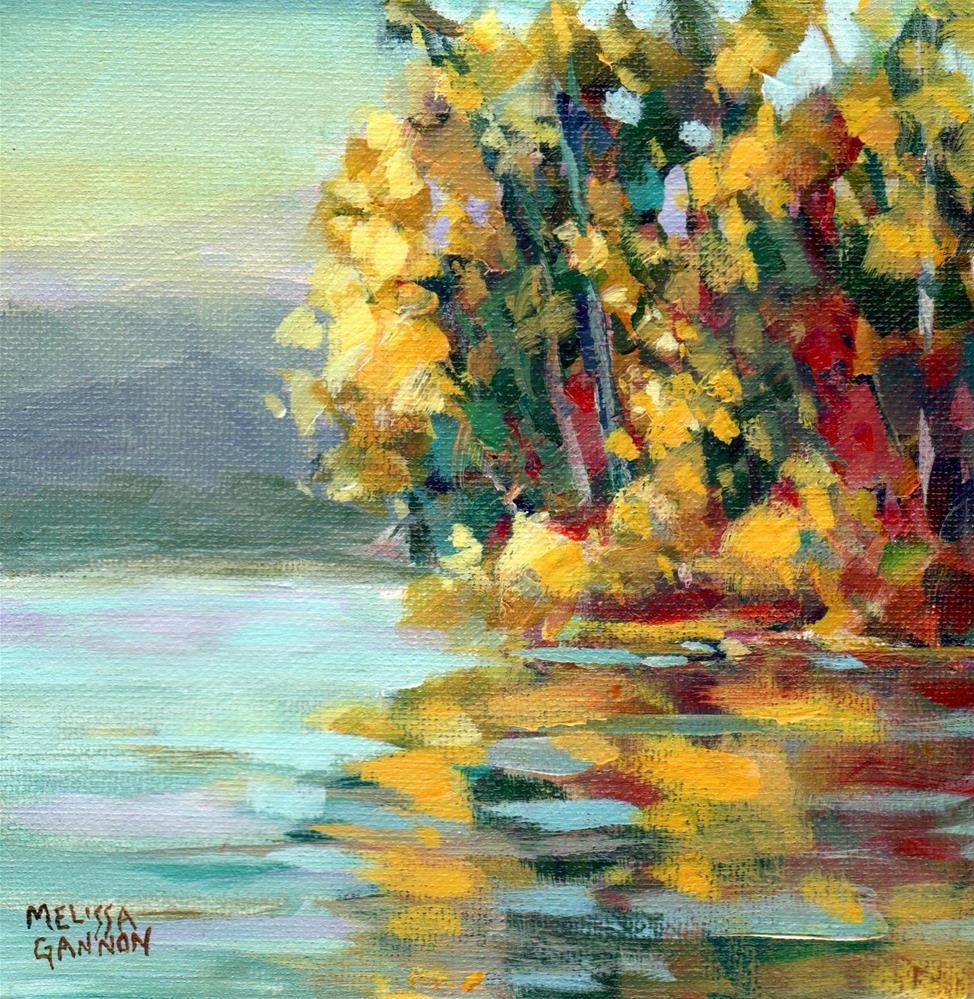 """Autumn Reflections"" original fine art by Melissa Gannon"