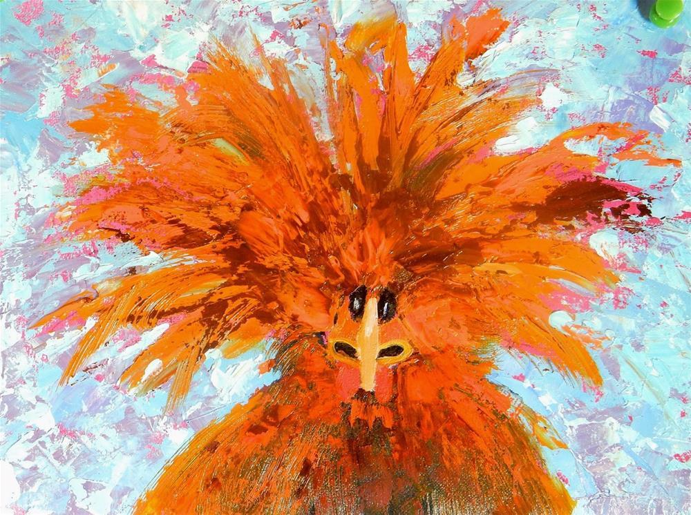 """I'm a Real Redhead"" original fine art by Phyllis Davis"