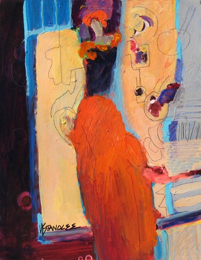 """New Year, New Celebration 12001  SOLD"" original fine art by Nancy Standlee"