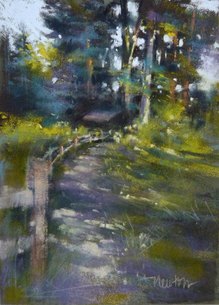 """""""Color study for Dappled Path"""" original fine art by Barbara Benedetti Newton"""