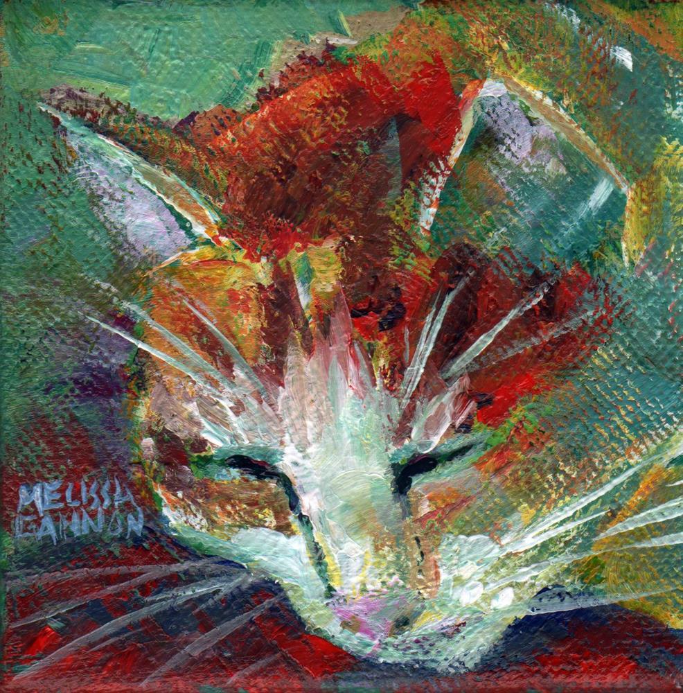 """Cat Nap"" original fine art by Melissa Gannon"