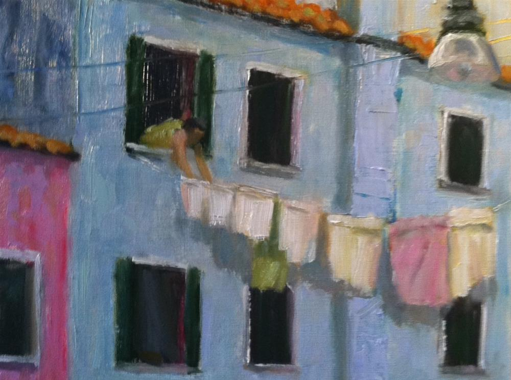 """""""Laundry Day"""" original fine art by Katharine March"""