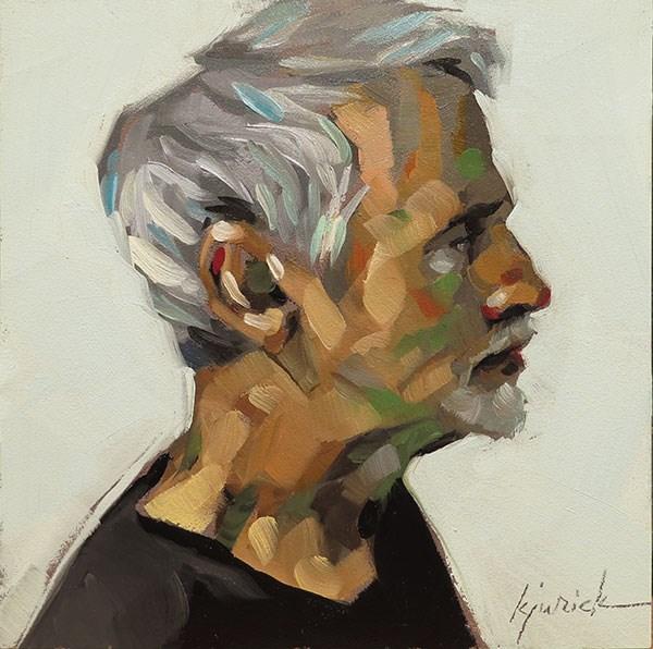 """200 Faces, No. 141"" original fine art by Karin Jurick"