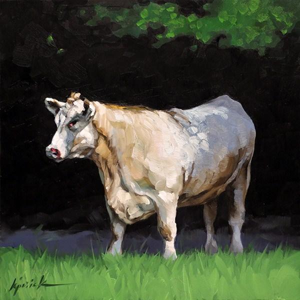 """George"" original fine art by Karin Jurick"