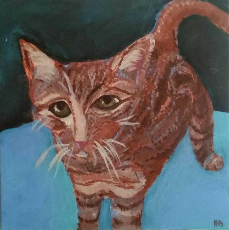 """""""Chet"""" original fine art by Hallie Dozier"""