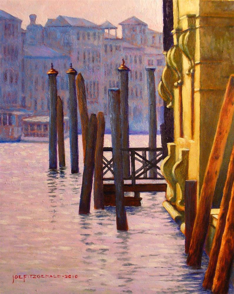 """On the Grand Canal"" original fine art by Joe Fitzgerald"
