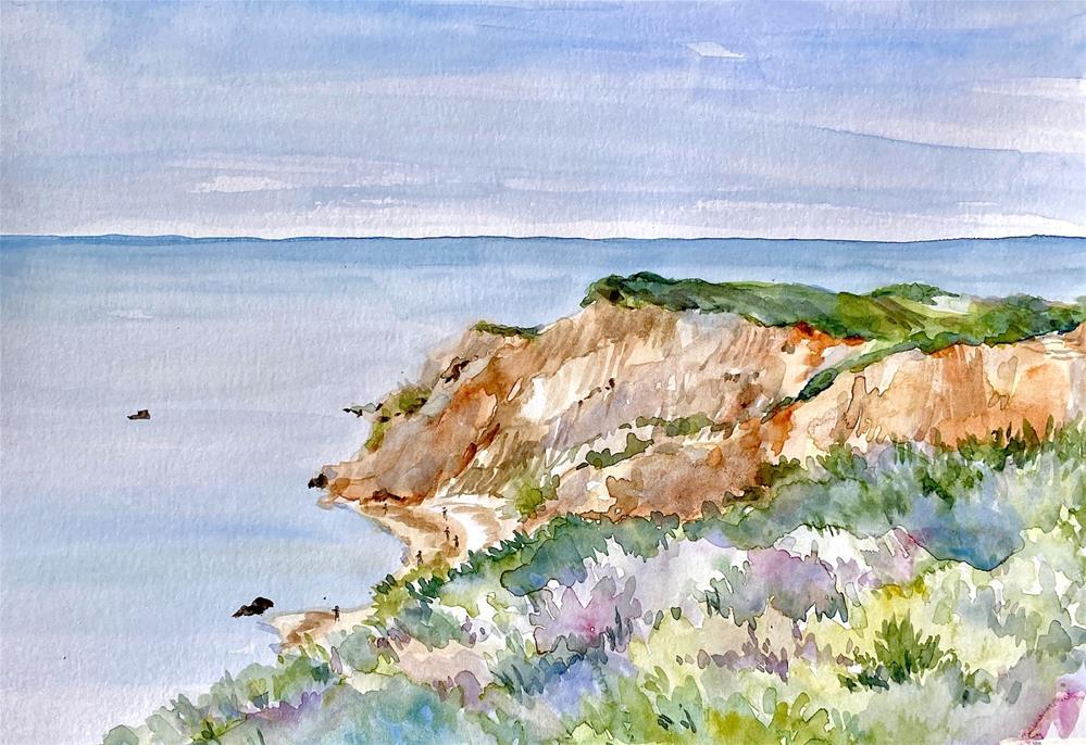 """Aquinnah Cliffs, Martha's Vineyard"" original fine art by Judith Freeman Clark"