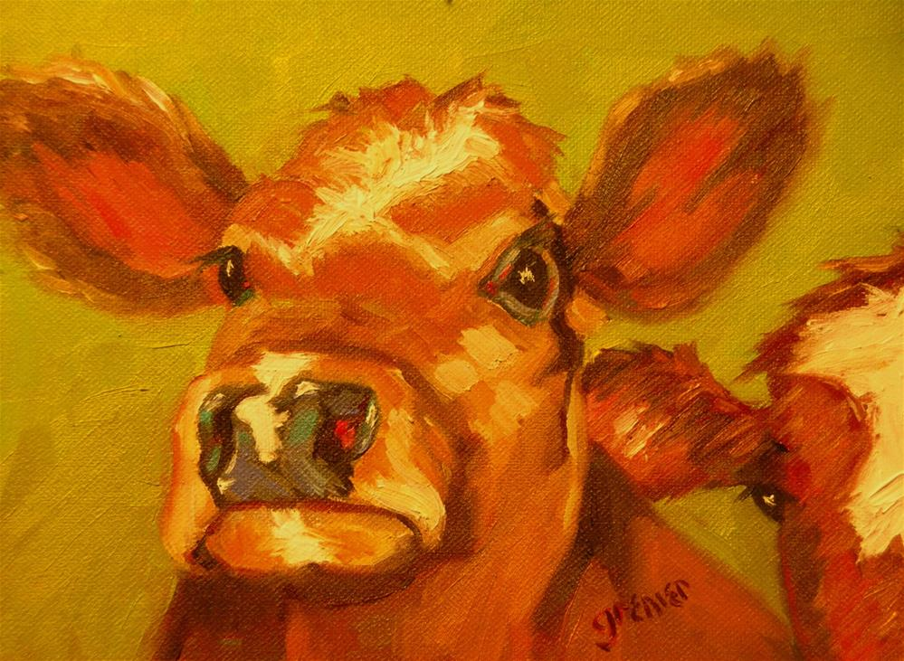 """""""Red Cows Original Oil Signed by Jean Grenier"""" original fine art by jean grenier"""
