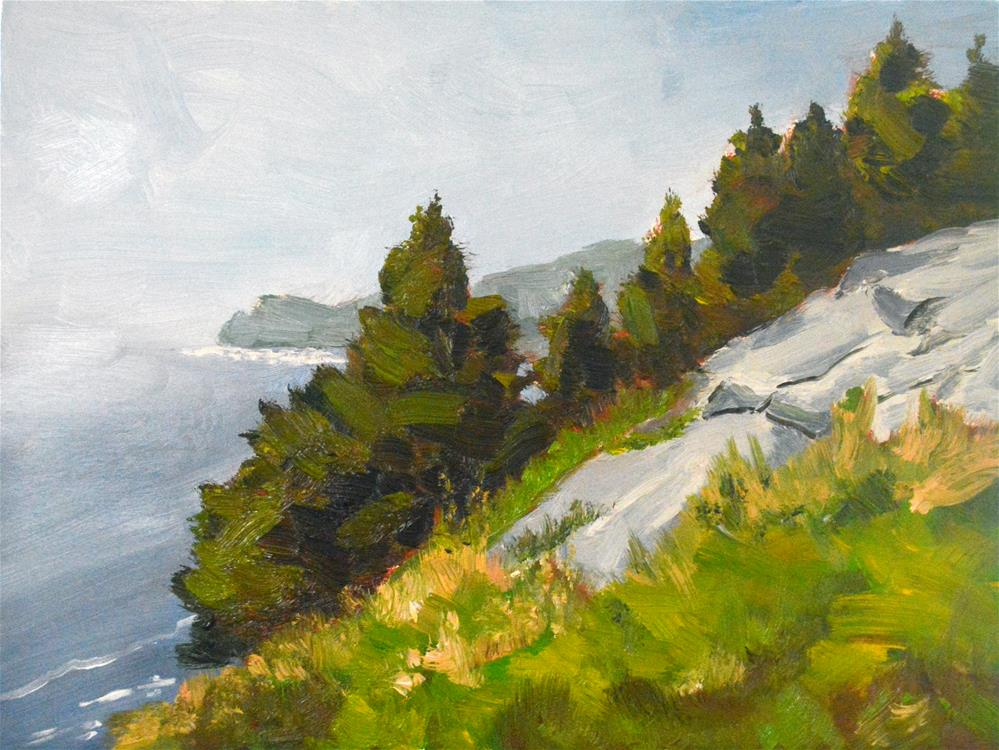 """Acadia Vista"" original fine art by Peter Bain"