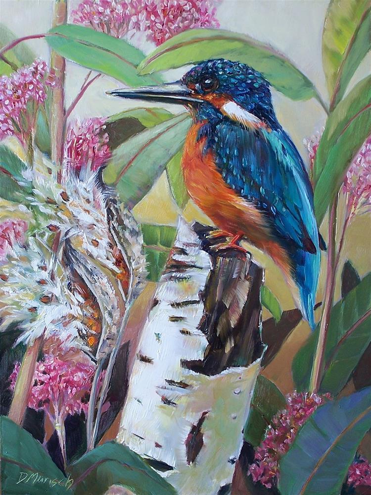 """Kingfisher"" original fine art by Donna Munsch"