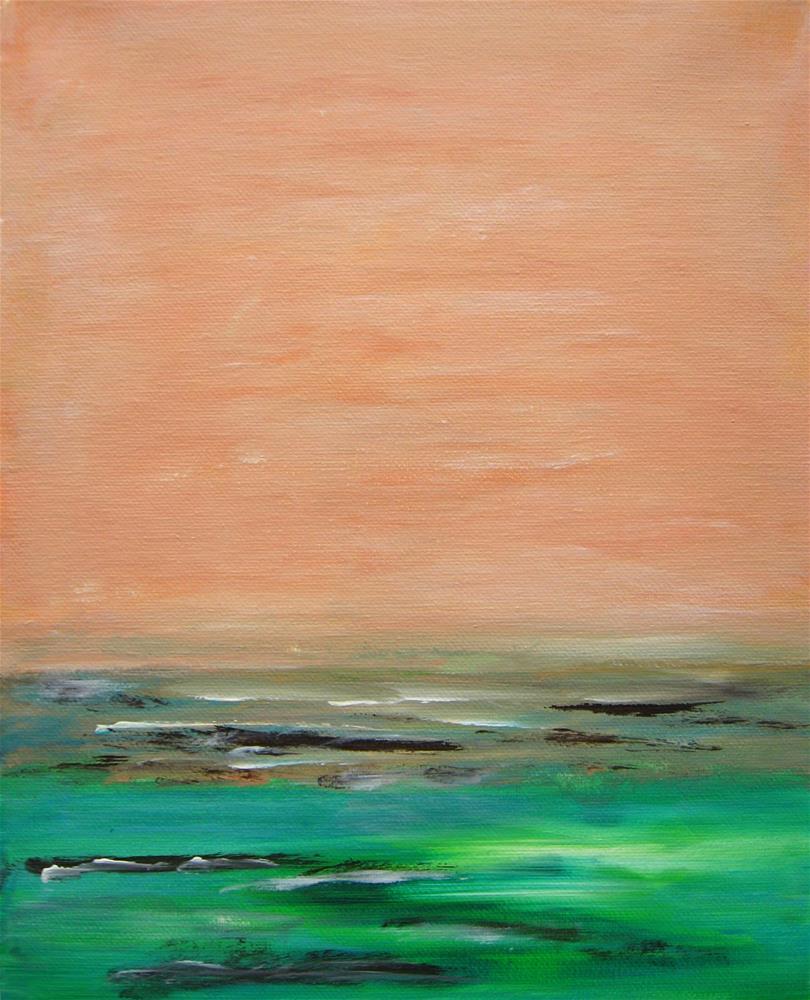 """Emerald Waters"" original fine art by Alina Frent"