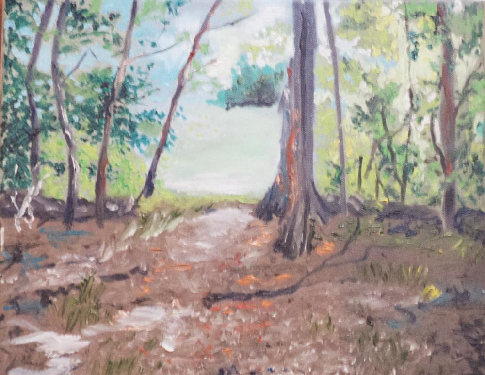 """Woods to Field"" original fine art by tara stephanos"