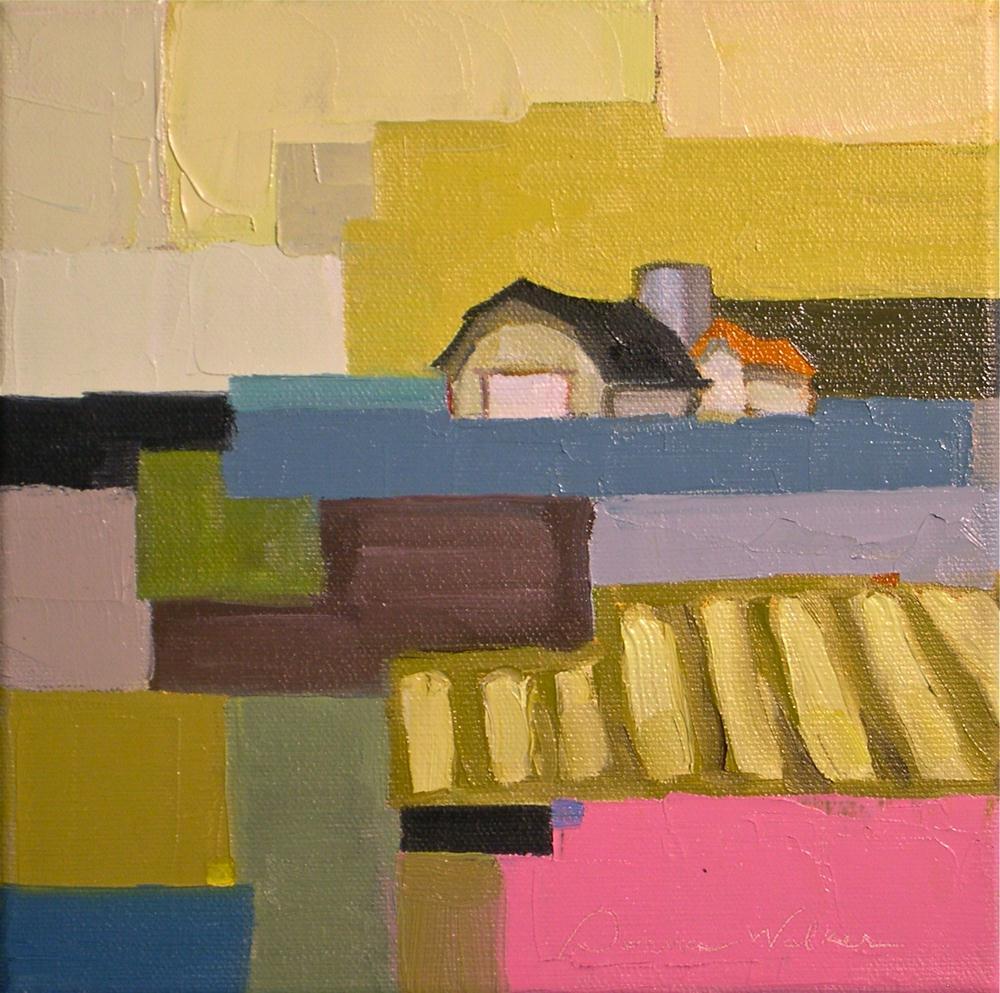 """Farmland Quilt II"" original fine art by Donna Walker"
