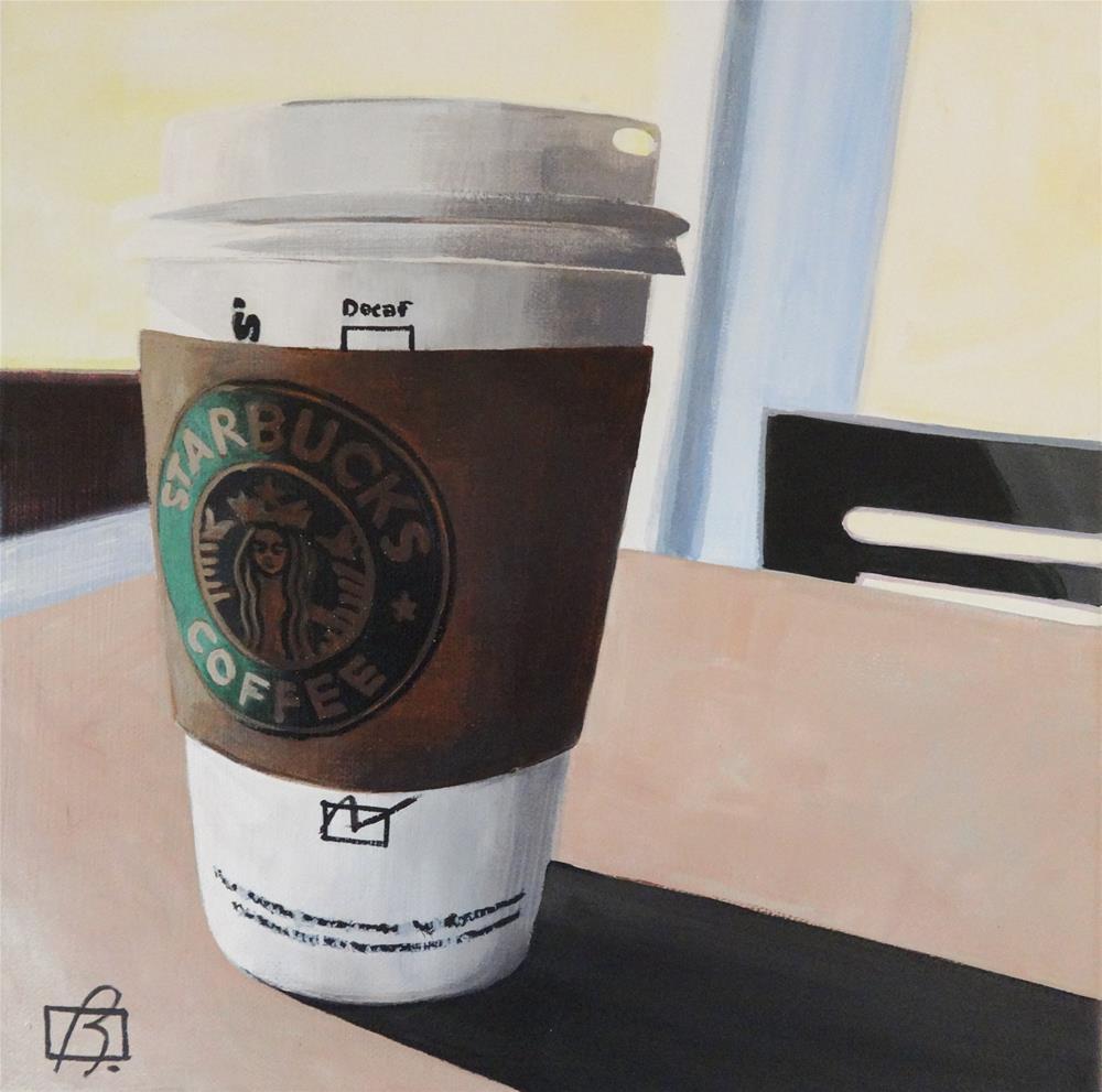 """""""Starbucks 3"""" original fine art by Andre Beaulieu"""