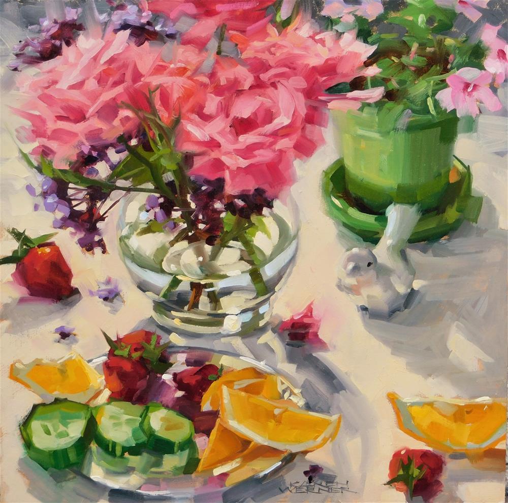"""Spring Things"" original fine art by Karen Werner"