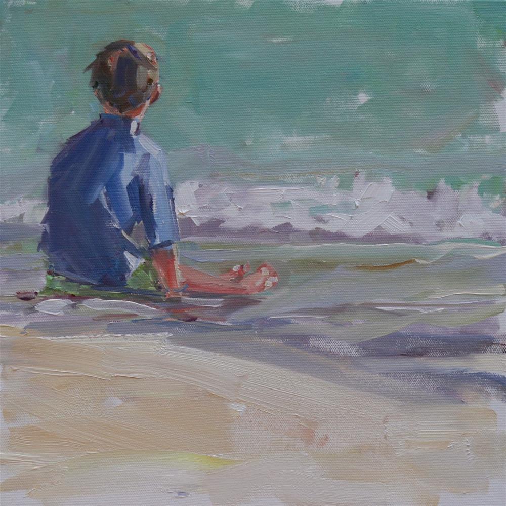"""sand between my toes"" original fine art by Carol Carmichael"