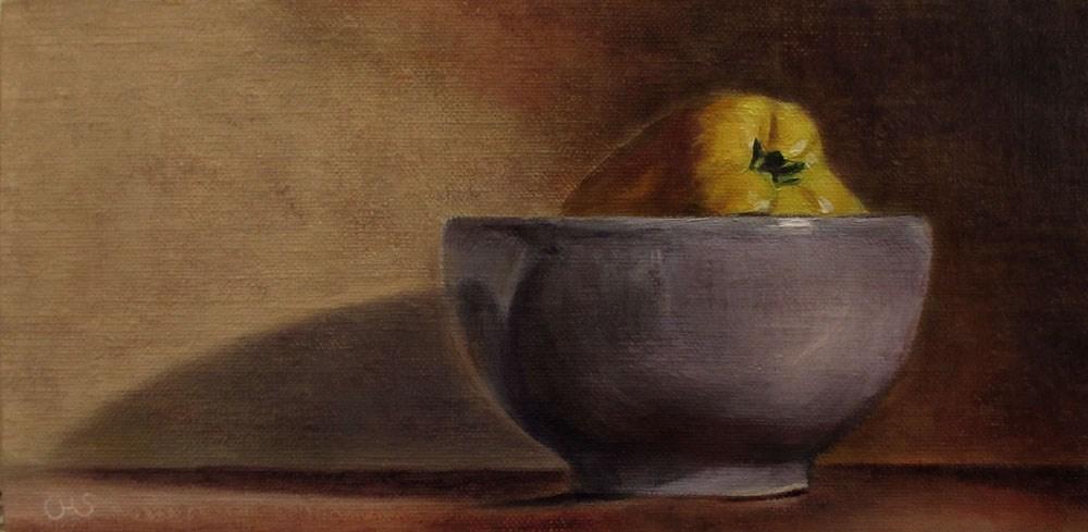 """""""Quince in a Bowl"""" original fine art by Ulrike Miesen-Schuermann"""