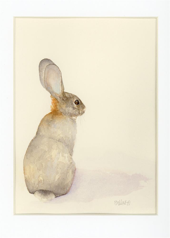 """Desert Cottontail II"" original fine art by Susanne Billings"