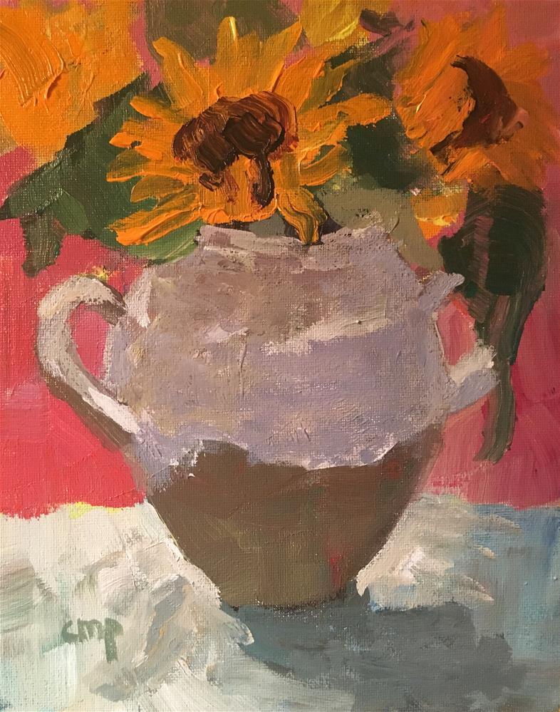 """""""Floral still life"""" original fine art by Christine Parker"""