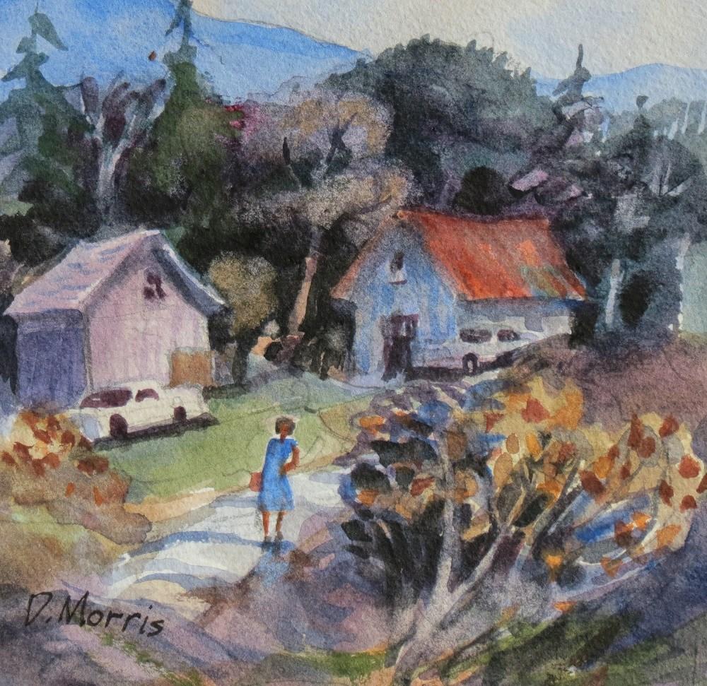 """""""The Blue Dress"""" original fine art by Dann Morris"""