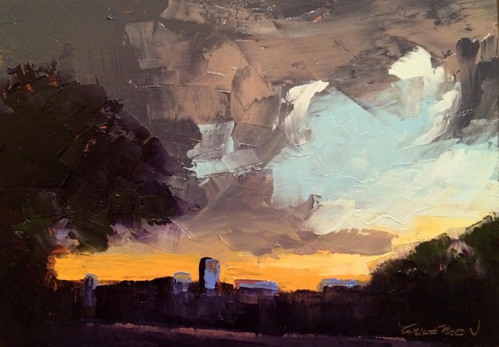 """Sunset, Blossom Street"" original fine art by Mary Gilkerson"