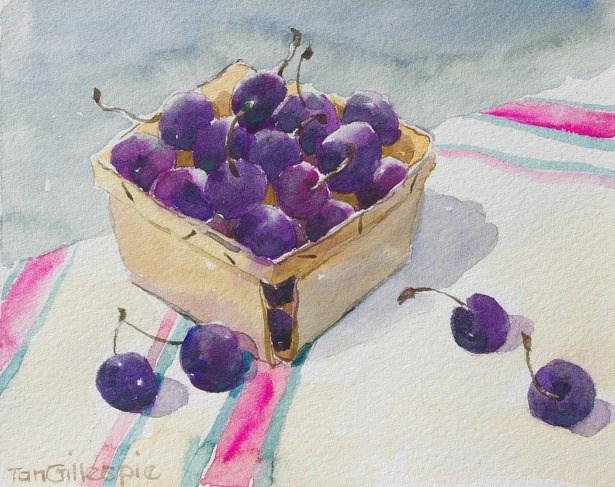"""A Box of Cherries"" original fine art by Tan Gillespie"