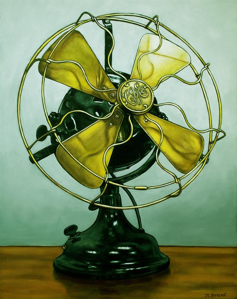 """""""Vintage CGE Fan"""" original fine art by Margaret Horvat"""