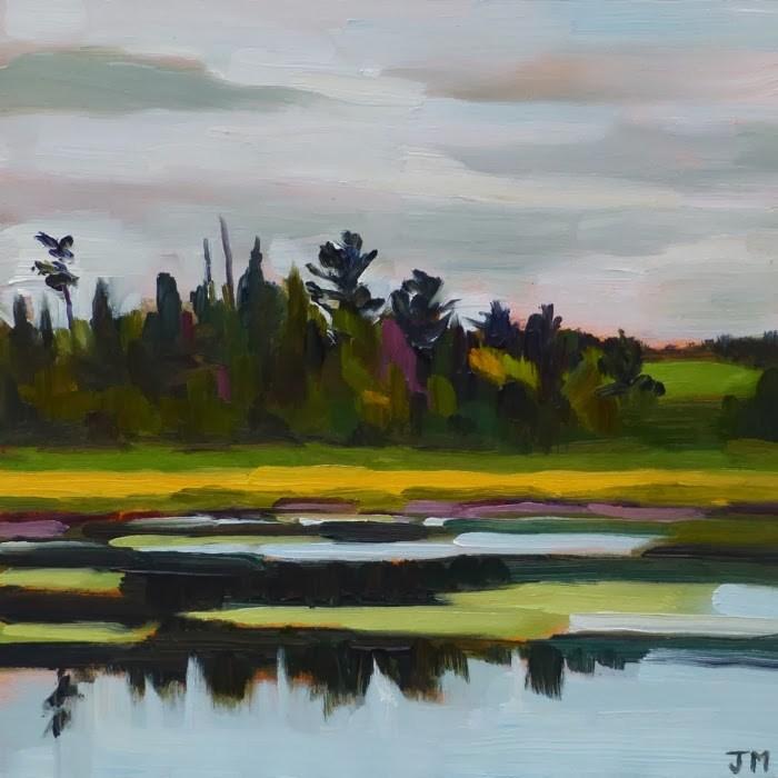 """Michigan Marsh"" original fine art by Jessica Miller"