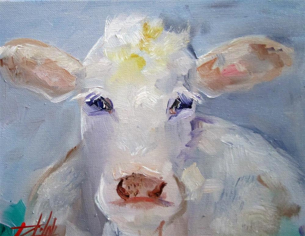"""Belgian Blue Cow"" original fine art by Delilah Smith"