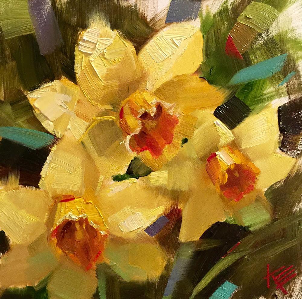 """Daffodil Expression"" original fine art by Krista Eaton"