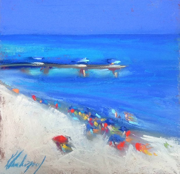 """Crowded"" original fine art by Karen Vanderpool"