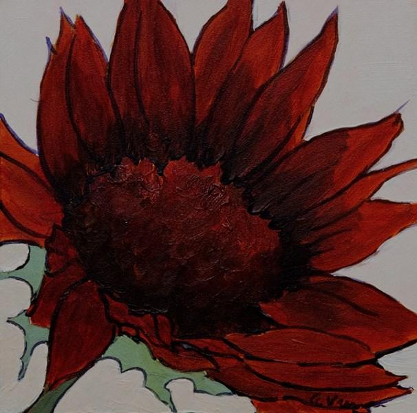 """Moulin Rouge Sunflower"" original fine art by Anna Vreman"