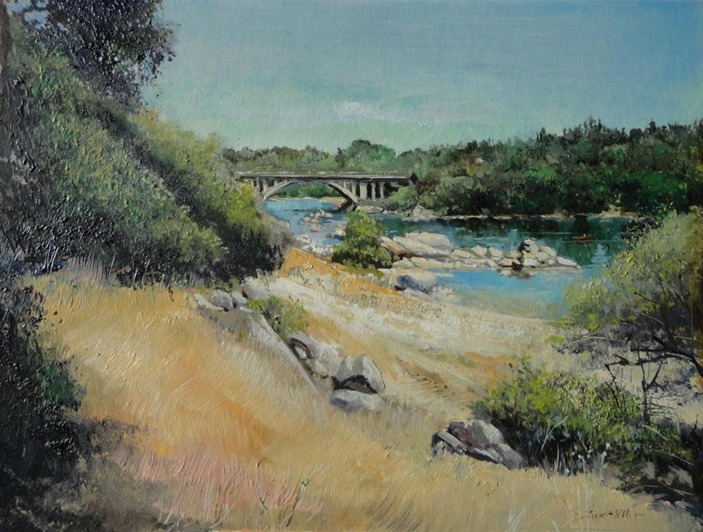 """Rainbow Bridge"" original fine art by Kirk Miller"