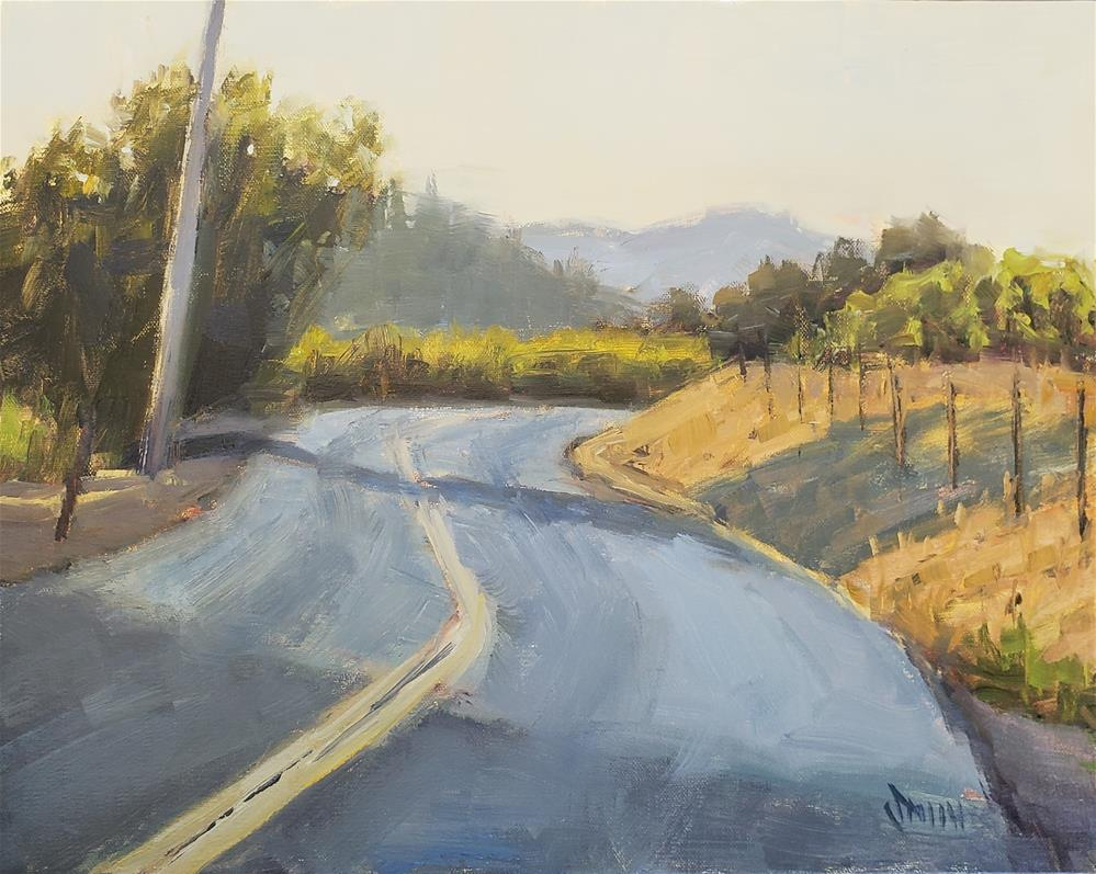 """Wine Country Drive"" original fine art by Barbie Smith"