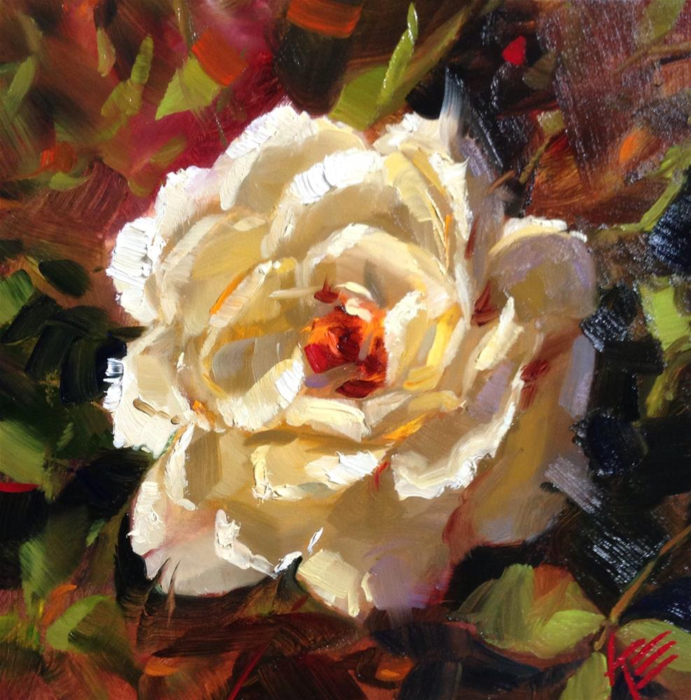 """Sunset Rose"" original fine art by Krista Eaton"