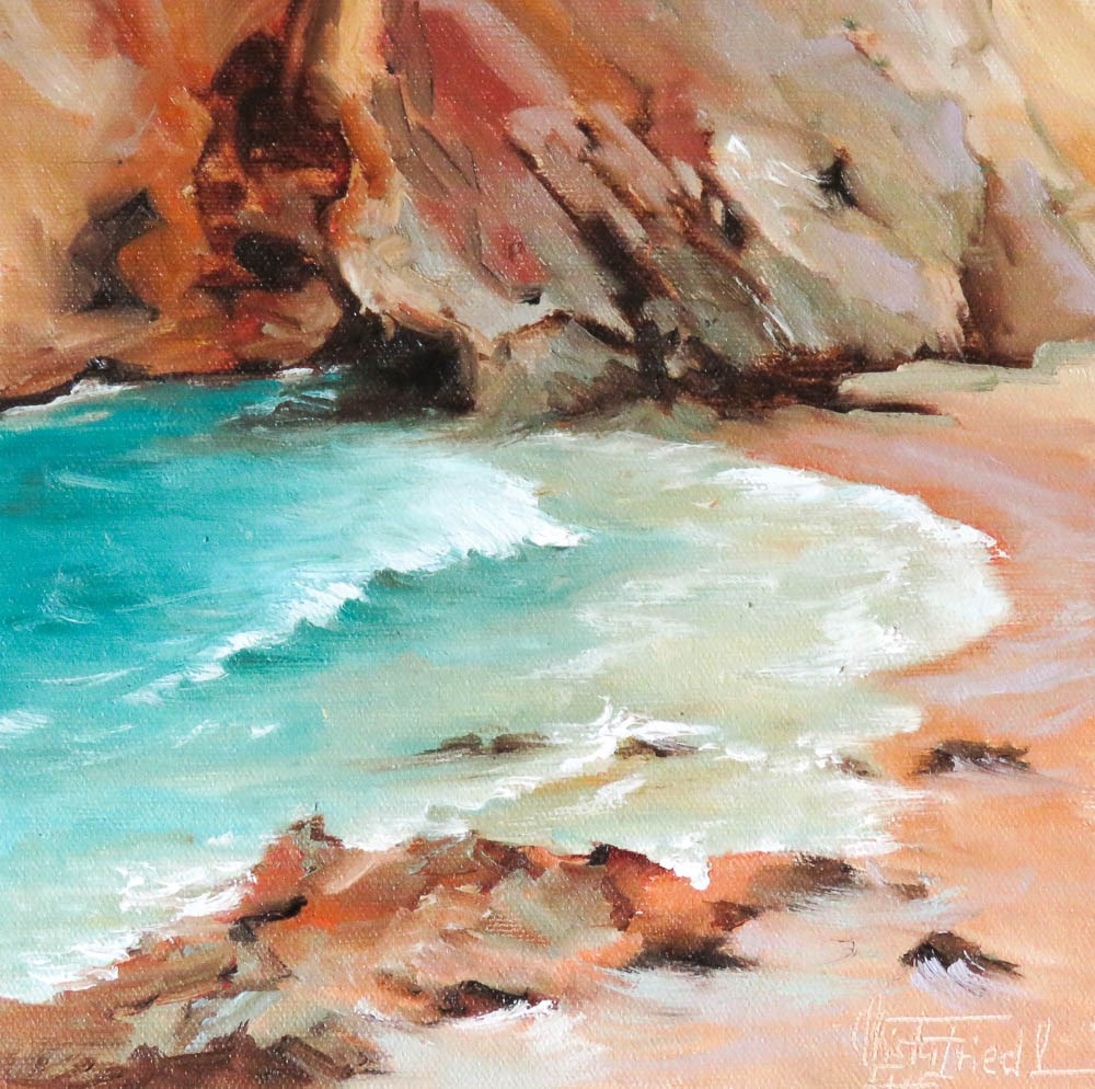 """Secret Bay"" original fine art by Christa Friedl"
