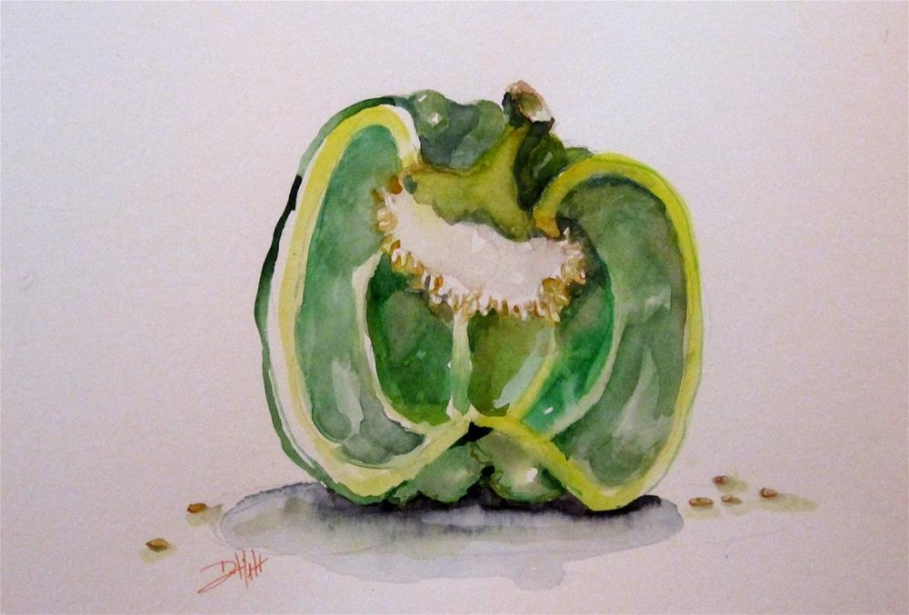 """Green Pepper"" original fine art by Delilah Smith"