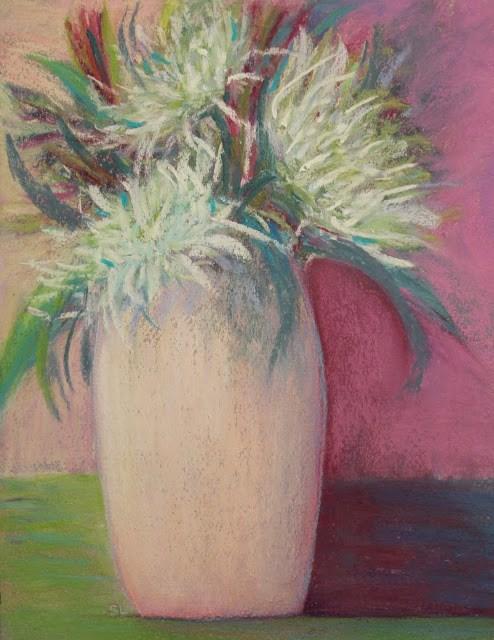 """Flowers for Meg"" original fine art by Sharon Lewis"