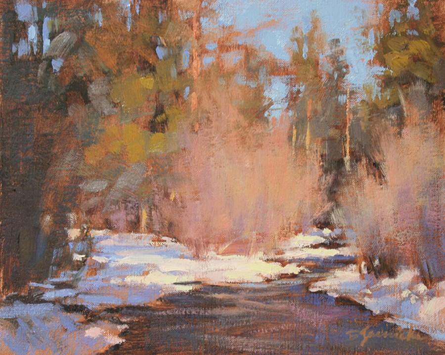 """Just the Sound of the Creek"" original fine art by Barbara Jaenicke"