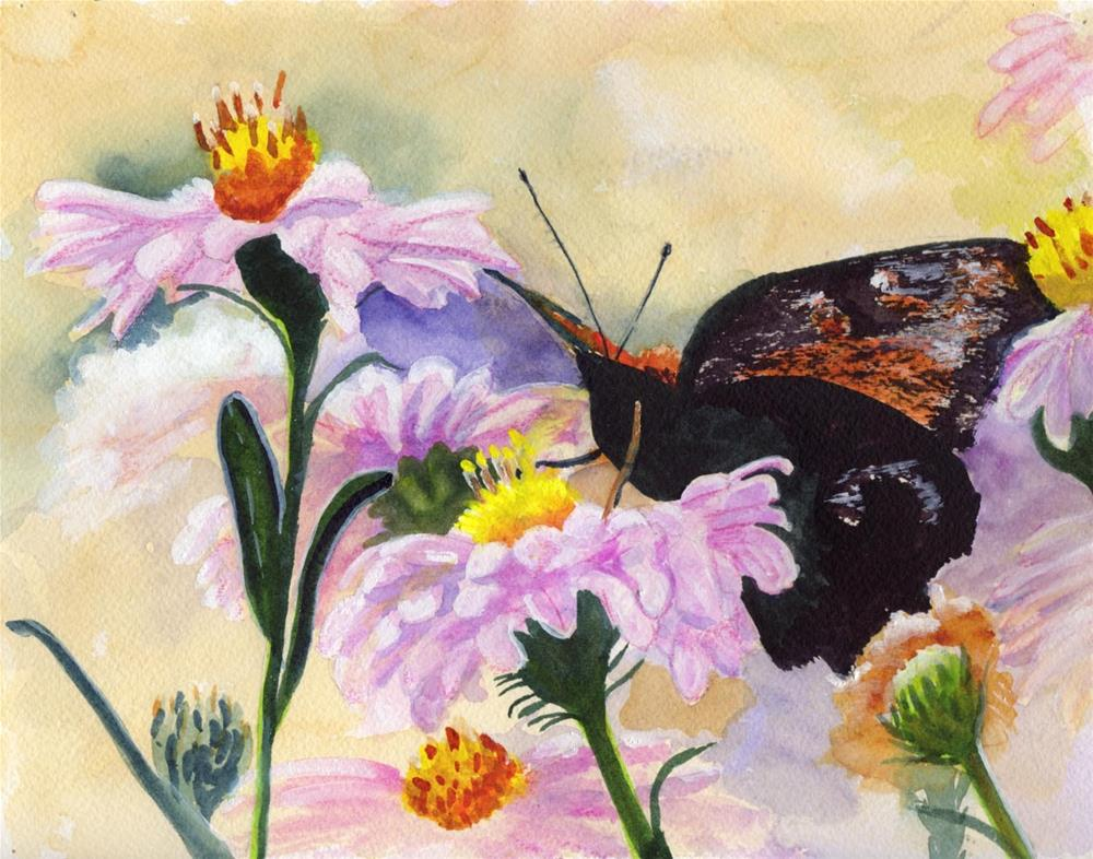 """Butterfly Floral"" original fine art by Bunny Griffeth"