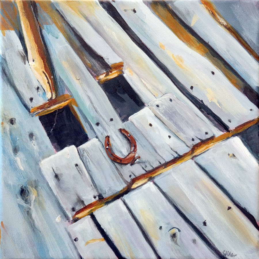 """1042 Smiling Barn"" original fine art by Dietmar Stiller"
