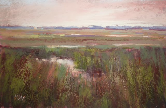 """""""Try This: An Interesting Technique for Painting Grass with Pastels"""" original fine art by Karen Margulis"""