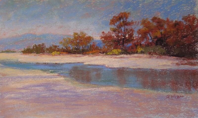 """""""Caulonia Beach"""" original fine art by Ruth Mann"""