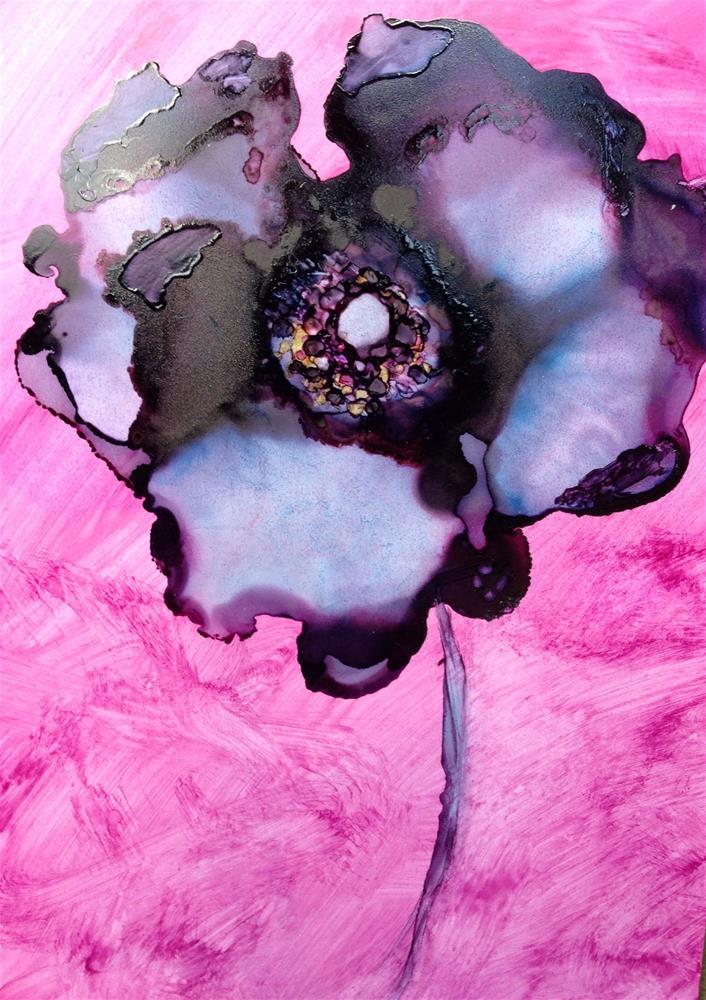"""Blue Plum"" original fine art by Kris Alge"